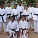 இன்டர்நேஷனல் கராத்தே பிளாக் பெல்ட் தேர்வு:கமுதி மாணவ, மாணவிகள் வெற்றி