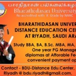 Admissions open at Riyadh for Bharathidasan university